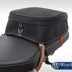 Leather R nineT tail bag - black