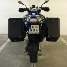 PRO pannier system for BMW HP2 E with Nomada EXPEDITION panniers
