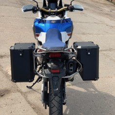 PRO pannier system for CRF1000 ADVENTURE Sport with Nomada EXPEDITION panniers