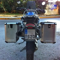 PRO pannier system for R1200GS / Adv with Nomada PRO II panniers