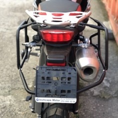 Asymmetrical pannier frame for F750/850GS